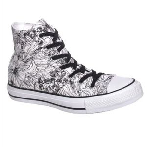 Converse Chuck Taylor Floral Outline High Tops